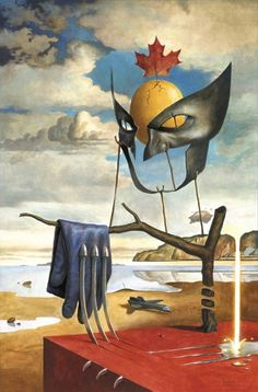 """Surreal Wolverine by Salvador Dali"" (Via Geek Art Gallery)"