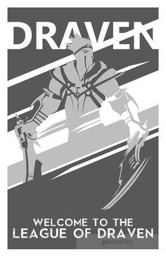 Draven: League of Legends Print por pharafax en Etsy
