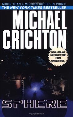 Sphere by Michael Crichton. One of the few books I've read because I wanted to. Worthy of a re-read if my attention span ever improves.