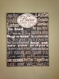 """Personalized Wooden House Rules Family Sign Large 24x30"""""""