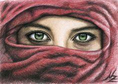 Saatchi Online Artist: Nicole Zeug; Colored Pencils, Drawing