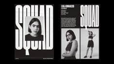 Squad – Sometimes Always Web Design, Site Design, Book Design, Design Typography, Graphic Design Posters, Branding Design, Graphic Design Layouts, Print Layout, Web Layout