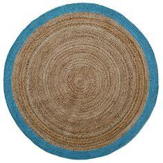 Natural Round Stripe Rug Mint
