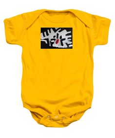 Patrick Francis Gold Designer Baby Onesies featuring the painting White Tiger 2014 by Patrick Francis