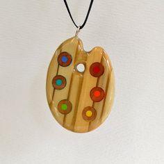 Artist's palette pencil pendant pencil jewelry by jenmaestre it's so beautiful!