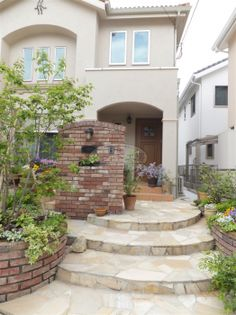 Entry Stairs, Curb Appeal, Gate, Entrance, New Homes, Exterior, Gallery, Outdoor Decor, House