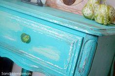 dresser finish in turquoise