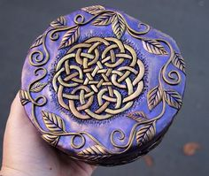 Purple Box with Gold Celtic Knot and Vines 1, via Flickr.