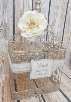 Birdcage Card Holder Elegant Money Box Wedding Birdcage Card