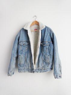 Levis Shearling Jacket // Vintage Denim Jacket SOLD