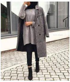 New Ideas For Dress Black Hijab Modest Fashion - hijab outfit Modest Fashion Hijab, Modern Hijab Fashion, Street Hijab Fashion, Hijab Fashion Inspiration, Hijab Chic, Muslim Fashion, Mode Inspiration, Fashion Ideas, Modest Outfits Muslim