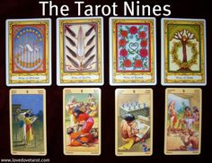 The Tarot 9's in Love: The Tarot 9′s are a bit like the 7′s in that they often indicate solitude rather than companionship.9 of Wands. Like the 4 of Pentacles, this is a card of boundaries. Often it indicates a need to draw new boundaries after betrayals and other harsh life lessons.On the other hand, if ill-dignified, the 9 of Wands could mean that one or both of you are constantly walking on eggshells around the other.  There could be a tendency to take everything personally and lash out.