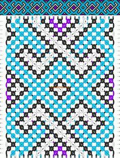 Normal friendship bracelet pattern added by celtic diamonds criss cross. Macrame Bracelet Patterns, Macrame Patterns, Macrame Bracelets, Bracelet Designs, Cool Friendship Bracelets, Friendship Bracelet Patterns, Thread Bracelets, Embroidery Bracelets, Celtic Patterns
