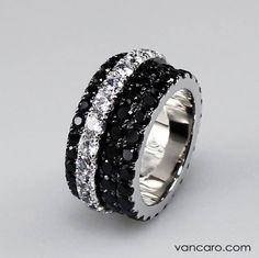Vancaro jewelry, black diamonds <3 Beautiful! #mystyle