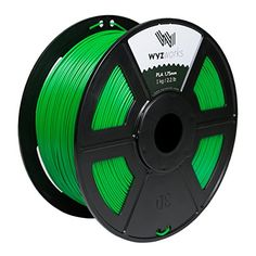 WYZworks PLA 1.75mm [ GREEN ] Premium Thermoplastic Polylactic Acid 3D Printer Filament - Dimensional Accuracy +/- 0.05mm 1kg / 2.2lb + [ Multiple Color Options Available ] - http://www.real3dprinter.com/3d-printer-parts/wyzworks-pla-1-75mm-green-premium-thermoplastic-polylactic-acid-3d-printer-filament-dimensional-accuracy-0-05mm-1kg-2-2lb-multiple-color-options-available/?utm_source=PN&utm_medium=Pinterest+Printer+Parts&utm_campaign=SNAP%2Bfrom%2BThe+3D+Printing+Website
