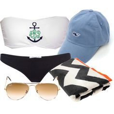 Monogrammed Bikini... WITH VINEYARD VINES CAP for next summer when I'm gonna be skinny enough to wear it.