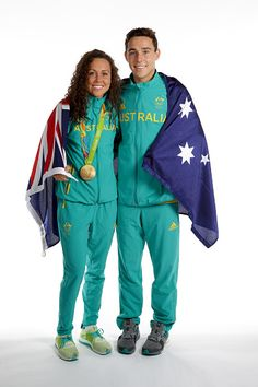 Women's Modern Pentathlon Gold medalist Chloe Esposito and her brother Max of…