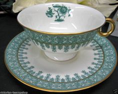 Limoges teacup and saucer