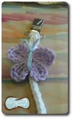 Crochet Pacifier Clip - Tutorial