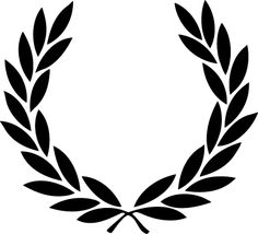 Laurel wreath tattoo - I like this shape, but would like a little more detail in. : Laurel wreath tattoo – I like this shape, but would like a little more detail in the leaves. Tattoo Bein, I Tattoo, Shape Tattoo, Laurel Wreath Tattoo, Laurel Tattoo, Tatuaje Old School, Wreath Drawing, Clothing Logo, Inspiration Tattoos