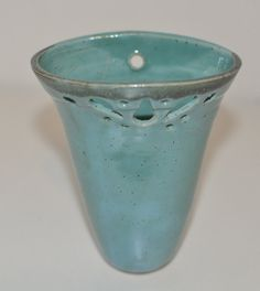 Hanging Vase/Planter Ceramic  Turquoise Green by ClayismyArt, ₪80.00