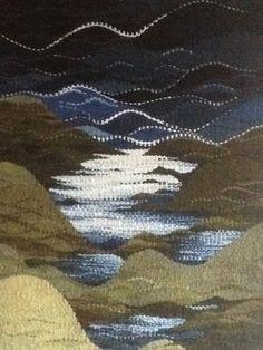 MICHAEL CROMPTON | British Tapestry Group Weaving Art, Weaving Patterns, Loom Weaving, Hand Weaving, Tapestry Loom, Small Tapestry, Tapestry Crochet, Contemporary Tapestries, Peg Loom