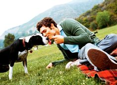 oh, your board is better than mine, @Alice McAlexander? bet you don't have this picture of adam brody in a cardigan kissing a puppy named penny lane.