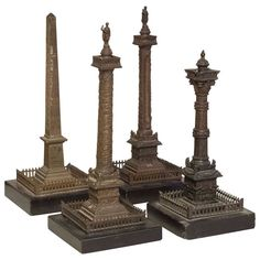 Four Grand Tour Models of Monuments 19th Century | From a unique collection of antique and modern decorative objects at http://www.1stdibs.com/furniture/more-furniture-collectibles/decorative-objects/