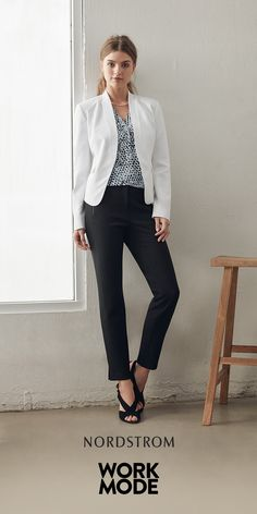Fashion essentials for wear-to-work. Includes fashionable blazers, slacks, sandals and accessories to take you from desk to dinner.