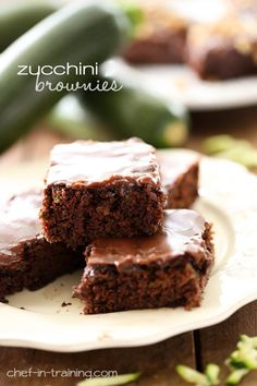 Zucchini Brownies @FoodBlogs