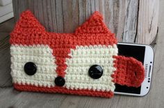 Darling!! Crochet woodland fox cell phone case by MalindasDesigns on Etsy, $18.50
