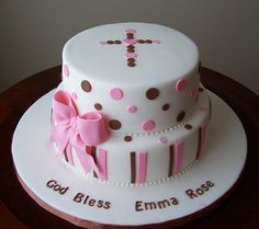 Baptism Cake - only with Green or Blue for a boy