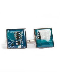 Circuit board Cufflinks modern man's accessory by ReComputing
