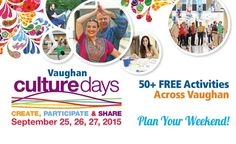 An entire weekend of art activities, shows, exhibits, heritage presentations, even bus tours - all free! The City of Vaughan celebrates culture with more than 50 events Sep 25 - Free Activities, Wood Bridge, Family Events, Romantic Getaways, B & B, Presentation, Horse, Culture, How To Plan