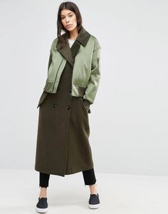 Comma mantel wollmix trenchcoat optik
