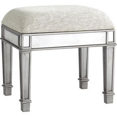 "$119.99 Hayworth - Vanity Bench (569.97 with mirror and vanity) ; 19""W x 14""D x 17""H"