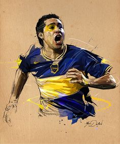 Midfielder Roman Riquelme of Boca Juniors celebrates after he scored the second goal against Gremio during the first leg final football match of the Copa Libertadores 2007 at La Bombonera stadium in Buenos Aires, 13 June 2007. AFP PHOTO/Daniel GARCIA