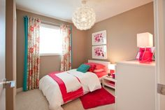 red & white theme room