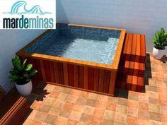 53 Simply Small Backyard Ideas With Swimming Pool Swiming Pool, Small Swimming Pools, Small Pools, Swimming Pools Backyard, Pool Landscaping, Lap Pools, Indoor Pools, Pool Decks, Hot Tub Backyard