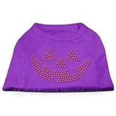 Mirage Pet Products Jack O' Lantern Rhinestone Shirt, 3X-Large, Purple