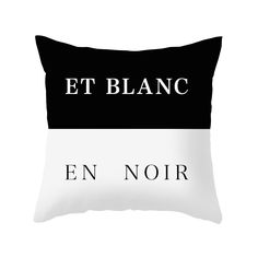 Film noir is all about light and dark contrasts, which makes this black and white contrast pillow a must-have for noir cinephiles. With a concealed zipper and featuring a double-sided print, the throw ...  Find the Et Blanc En Noir Pillow, as seen in the The Best of Modern Design Collection at http://dotandbo.com/collections/the-best-of-modern-design?utm_source=pinterest&utm_medium=organic&db_sku=90501