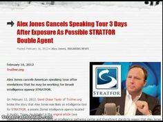 Alex Fucking Jones Exposed As Israeli STRATFOR Agent