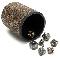 7Pcs Multisided Dice Polyhedral Dice Set D4-D20 Dice with Dice Cup Games #Cup #Multisided #Dice #7Pcs #Set #Games #with #Polyhedral #D20