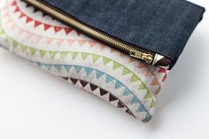 free sewing pattern zippered fold over clutch - Google Search