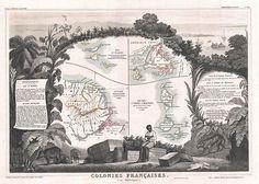 1852 Levasseur Map of Guyana, Miquelon, Newfoundland, and St. Martin - Geographicus - GuyaneMiquelon-levasseur-1852.