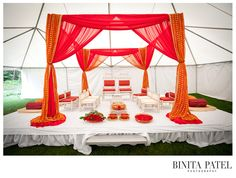 #Mandap with no flowers. Different colours. Like this airy style.