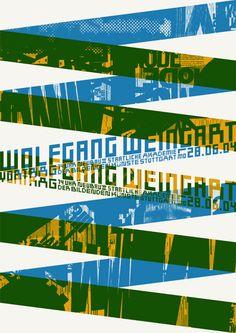 wolfgang weingart lecture [poster] « daniel wiesmann grafikdesign