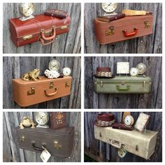 diy suitcase shelf