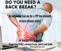 Desk Workout, Pilates Workout, Chronic Pain, Fibromyalgia, Pilates Benefits, Pilates Instructor, Yoga Block, Improve Posture, Trigger Points