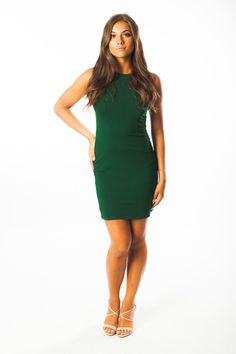 Jenna Mini Dress by Ariana James | The Jenna Mini Dress is a classy, yet simplistic staple for easy transitioning from the brisk days of spring, to the warm days of summer. The rich colors of the comfortable cotton fabric make this mini dress perfect to take you from a day at the office to a night out on the town. Feel confident as you transform your look with key accessories from your own collection, styling the dress to your personality. | Available in 8 colors!